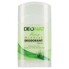 Минеральный дезодорант   С СОКОМ АЛОЭ   зеленый плоский кристалл   100g DeoNat