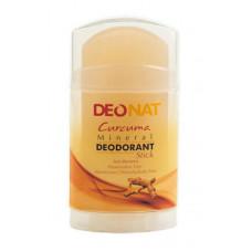 Дезодорант-стик минеральный   ЭКСТРАКТ КУРКУМЫ   плоский желтый   100g DeoNat
