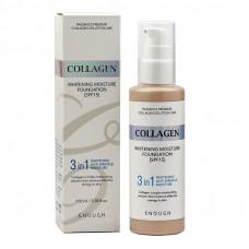 Тональный крем с коллагеном 3в1   Collagen Whitening Moisture Foundation №21   SPF15   Enough