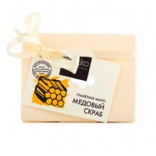 Туалетное мыло   МЕДОВЫЙ СКРАБ   апельсин, овсяные хлопья, цветочный мед, легкий скрабирующий эффект   75g Mi&Ko